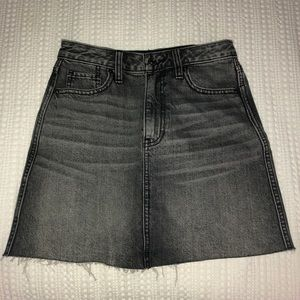 Gray denim skirt from Abercrombie & Fitch
